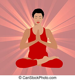 woman yoga practice background