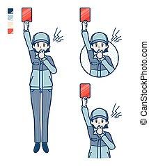 woman_red-card, entrega, simple