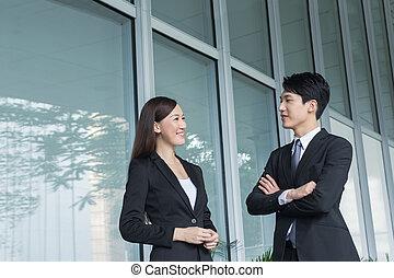 womanaffär, pratstund