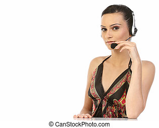 woman,call center worker