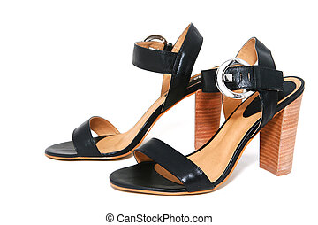 womanish, chaussures, isolé, blanc, fond