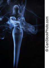 Womanish image made of fume
