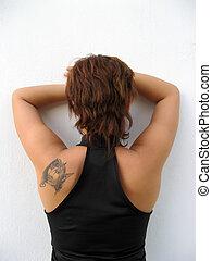 Woman\\\'s back