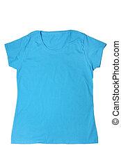 Woman's blue t-shirt