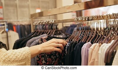 Woman's clothing store - dresses on hangers