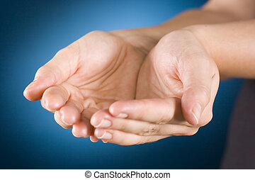 woman's cupped hands