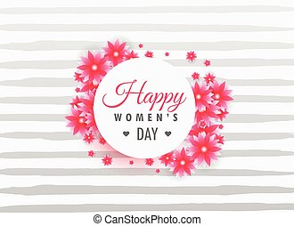woman's day 8th march lettering on beautiful flowers