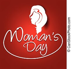 woman's day text background vector