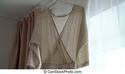 Womans dress beige color fashion