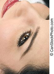 Woman\'s eye