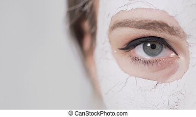 Woman's Eye During Face Mask