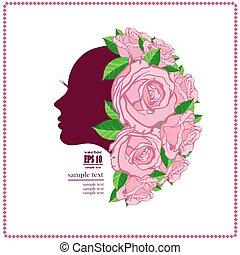 Woman's face in flower
