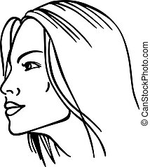 Woman's face (vector illustration)