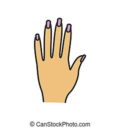 Woman's hand color icon