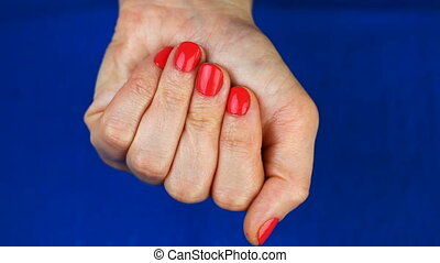 Woman's hand with pills