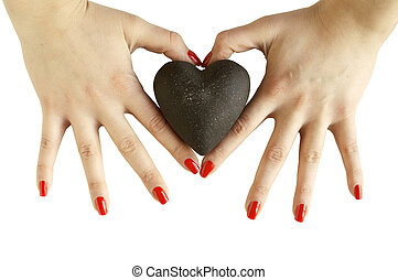 Woman's hands holding heart - heart shape