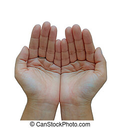 Woman's hands in the shape of a cup
