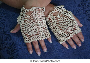 Womans Hands With Fingerless Gloves