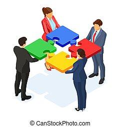 womans, lavoro squadra, associazione, affari, equipaggia