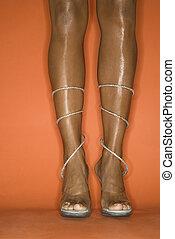 woman\'s, legs.