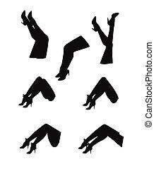 womans legs in silhouette - legs in silhouette