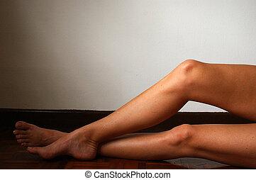 Woman\\\'s legs