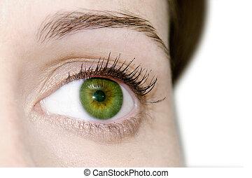 womans, olho verde