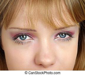 womans, olhos