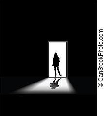 woman\'s, paura