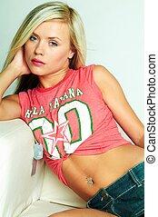 Womans Portrait - Portrait of attractive beautiful young ...