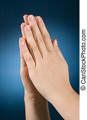 praing hands - woman's praing hands