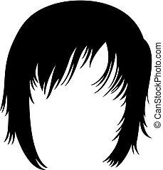 Woman's short haircut (hairstyle)