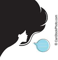 Woman's silhouette