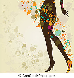 legs - Woman`s slim legs