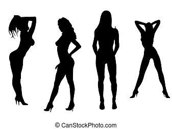 Womans striptease. - Beauty womans dancing striptease.