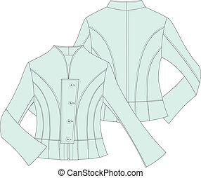 womans tailor  fitted jacket