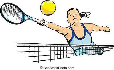 woman`s, tennis