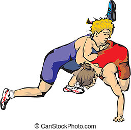 woman`s wrestling - greco-roman wrestling, freestyle...