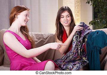 Women after shopping