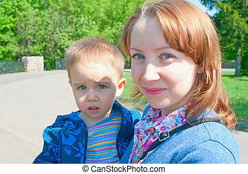 women and a little boy