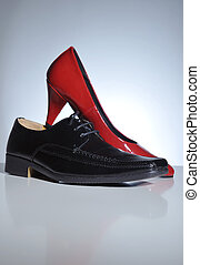 Women and man shoes