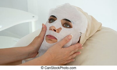 Women at the cosmetology procedures
