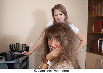 Women at the hair salon