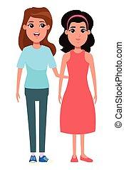 women avatar cartoon character portrait