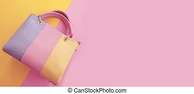 women bag on a colored background