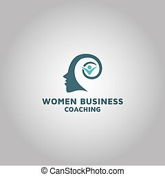 women business Coaching Logo design template inspiration