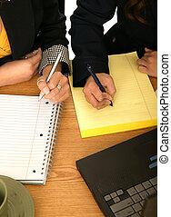 Women Business Team Writing