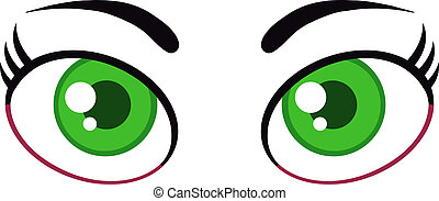 Women Cartoon Green Eyes