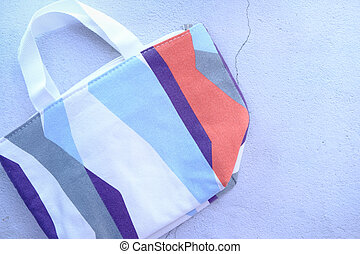 women casual bag on white background top view.