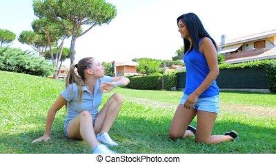 Women cat fighting for boyfriend
